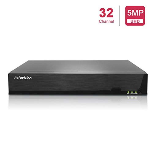 Evtevision 16 Canal 5MP Network Video Recorder with 8 PoE Ports, H.265...