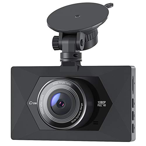 Crosstour Cámara De Coche 1080P Full HD,Dash CAM 12MP 3' Pantalla con...